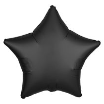 Satin Luxe Onyx Star Foil Balloon