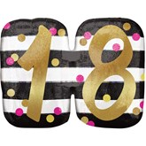"Pink & Gold 18th Birthday 25"" SuperShape Balloon"