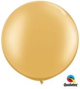 "Gold Round 30"" Latex Balloons 2pk"