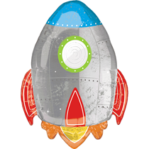 "Blast Off Space Rocket Ship 29"" Foil Balloon"