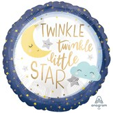 "Twinkle Little Star Satin Luxe 18"" Foil Balloon"