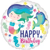 "Sea Life Happy Birthday 18"" Foil Balloon"