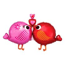 "Valentine's Love Birds 38"" Foil SuperShape Foil Balloon"