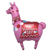 "Happy Valentine's Day Pink Llama 28"" Foil Balloon"