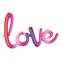 Ombre Love Phrase Script Foil Balloon