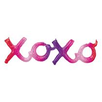 Ombre XOXO Hugs Kisses Script Foil Balloon