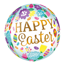 "Happy Easter 15"" Orbz Foil Balloon"