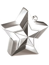 Silver 5oz Star Balloon Weight