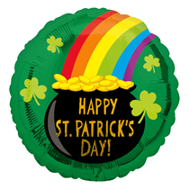 """St Patrick's Day Pot Of Gold 18"""" Foil Balloon"""