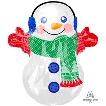 Christmas Adorable Snowman Junior Shape Foil Balloon