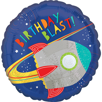 "Space Rocket Birthday 18"" Foil Balloon"