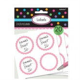 Scalloped Labels 20pk - Light Pink