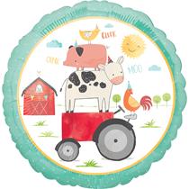 "Farmyard Animals & Tractor 18"" Foil Balloon"