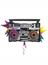 Totally 80s Boombox SuperShape Foil Balloon 35""