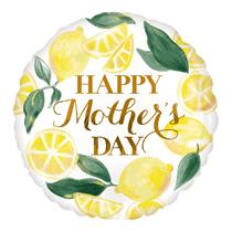 """Happy Mother's Day Fresh Lemons 18"""" Foil Balloon"""