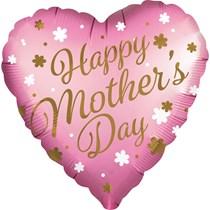 "Mother's Day Pink Satin Luxe 28"" Jumbo Foil Balloon"