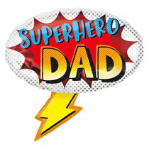 "Superhero Dad Lightning 27"" SuperShape Foil Balloon"