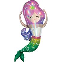 "Iridescent Mermaid 41"" Foil SuperShape Balloon"