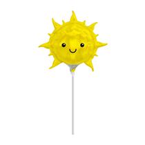 Iridescent Sun Mini Shape Foil Balloon (Air Fill)