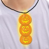 Glow in the Dark Halloween Pumpkin Necklace