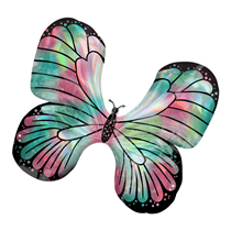 Iridescent Teal & Pink Butterfly SuperShape Foil Balloon