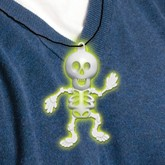 Glow in the Dark Halloween Skeleton Necklace