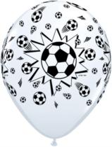 "Footballs 11"" White Latex Balloons 25pk"