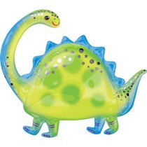 "Brontosaurus Dinosaur 32"" SuperShape Foil Balloon"
