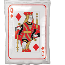 Casino Playing Card Jack & Queen Shape Balloon