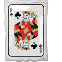 Casino Playing Card Ace & King Shape Foil Balloon