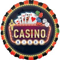 """Casino Nights 28"""" Jumbo Foil Balloon"""