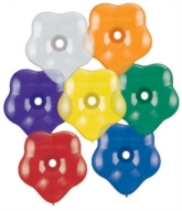 "6"" Jewel Assortment GEO Blossom Latex Balloons 100pk"