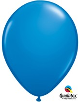 "11"" Dark Blue Latex Balloons - 25pk"