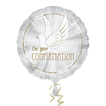 """On Your Confirmation Dove 18"""" Foil Balloon"""
