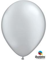 "11"" Silver Latex Balloons - 25pk"