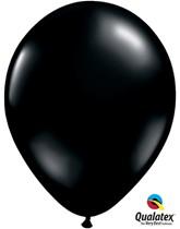 """11"""" Onyx Black Latex Balloons - 25pk"""