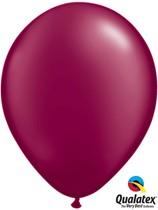 "Pearl Burgundy 11"" Latex Balloons 25pk"