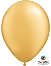 "11"" Metallic Gold Latex Balloons - 25pk"