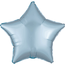 Satin Luxe Pastel Blue Star Foil Balloon