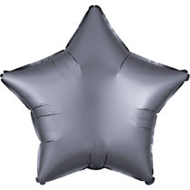 Satin Luxe Pastel Graphite Star Foil Balloon