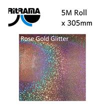 Metal Flake (Glitter) Rose Gold Vinyl 305mm x 1M
