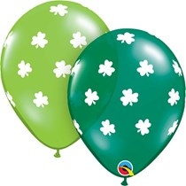 St Patrick's Day Shamrock Latex Balloons 25 Pack