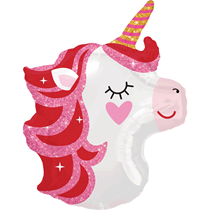 Pretty Pink Unicorn Junior Shape Foil Balloon