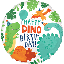 "Happy Dino Birthday Dinosaur 18"" Foil Balloon"