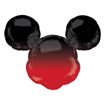"""Mickey Mouse Head Ombre 27"""" Foil SuperShape Balloon"""