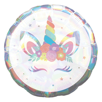 "Iridescent Unicorn Party 18"" Foil Balloon"