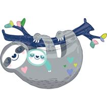 "Mummy & Baby Sloth 36"" Foil SuperShape Balloon"