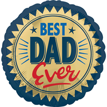 "Best Dad Ever Gold Stamp 18"" Foil Balloon"