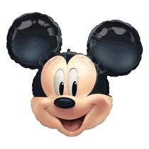 "Mickey Mouse Head 25"" Foil SuperShape Balloon"