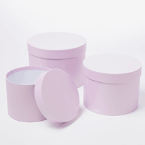 Lilac Round Lined Hat Boxes - Set of 3